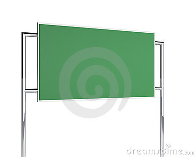 Green billboard