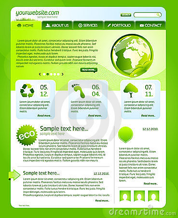 Green bio website template