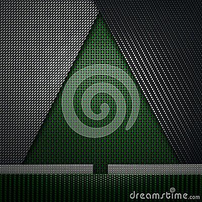 Free Green Black Carbon Fiber Textured Fir-tree Shape Material Design Stock Image - 106761741