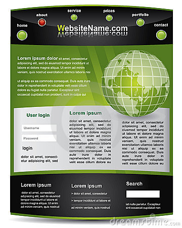 Green and black editable  website template