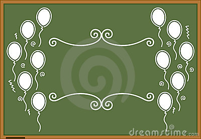 Green blackboard celebration design