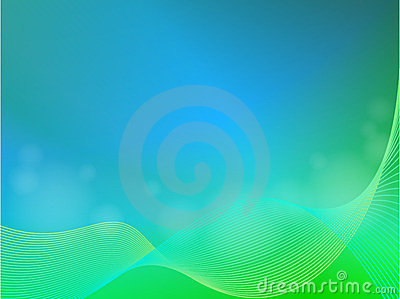 Green blue abstract light background with wave