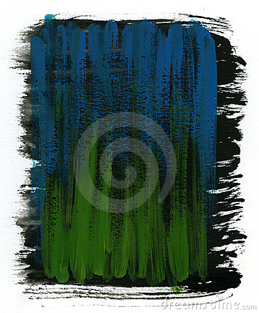 Green, blue and black  watercolor background