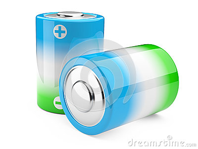 Green and blue eco battery