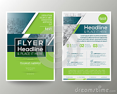 Green and Blue Geometric Poster Brochure Flyer design Layout Vector Illustration