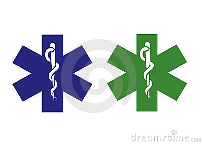 Green and blue medical symbol