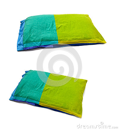 A green blue pillow