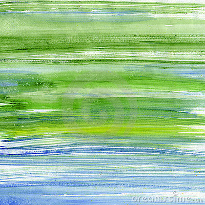 Green and blue watercolor stripes