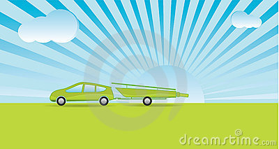 Green boating holiday Vector