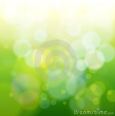 Green bokeh abstract light
