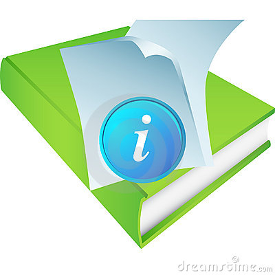 Green Book with Information Icon