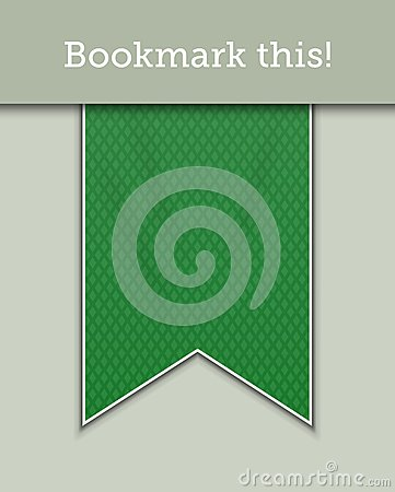 Green bookmark decoration ribbon