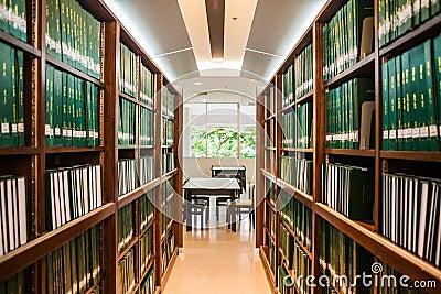 Green bookshelf of thesis
