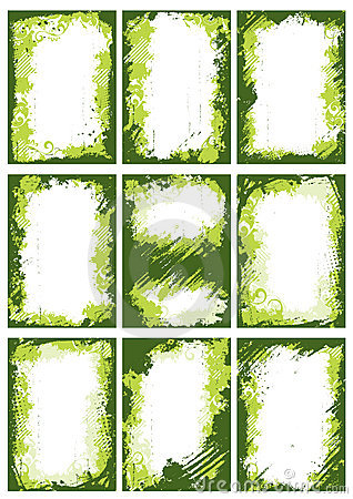 borders and frames. GREEN BORDERS OR FRAMES (click