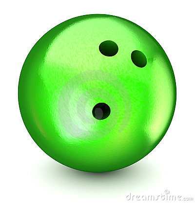 Free Green Bowling Ball Royalty Free Stock Photography - 23840787