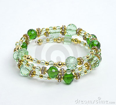 Free Green Bracelet With Crystall Royalty Free Stock Image - 16990866