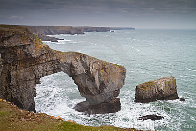 Green Bridge or Bridge of Wales sea arch