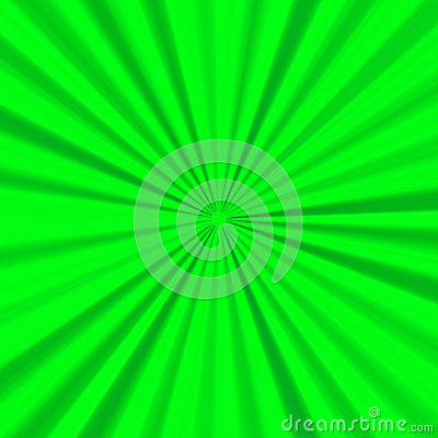 Green bright background with expanding rays