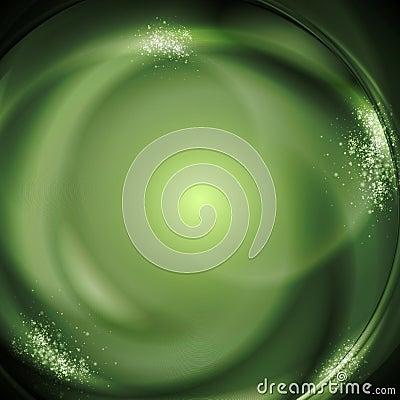 Green bright vector illustration
