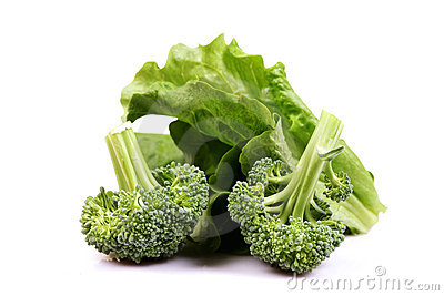 Green broccoli and lettuce diet