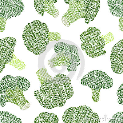 Free Green Broccoli Texture. Grungy Seamless Pattern. Stock Images - 99287694