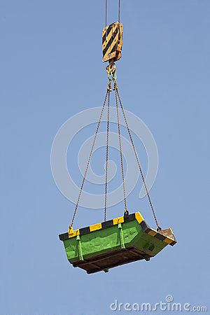 Green builders skip in the air
