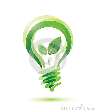 Green bulb Vector Illustration