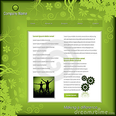 Green business web template