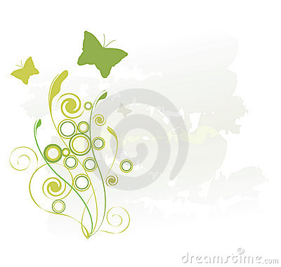Green Butterflies Royalty Free Stock Photo - Image: 3490895