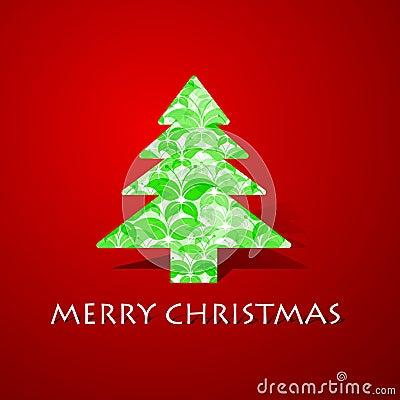 Green butterflies make a christmas tree