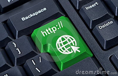 Green button with icon globe.
