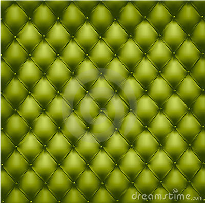Free Green Button-tufted Leather Background. Royalty Free Stock Photography - 19038307