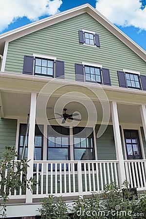 Green Cape Cod Style Dream Home