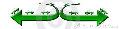 Green car logo