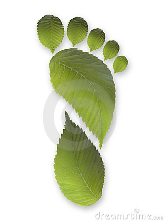 Free Green Carbon Leaf Footprint Royalty Free Stock Images - 15987369