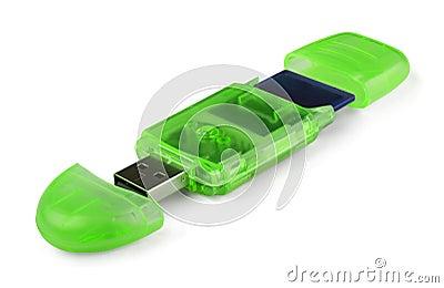 Green card reader