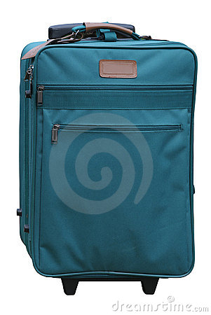 Green carry-on suitcase