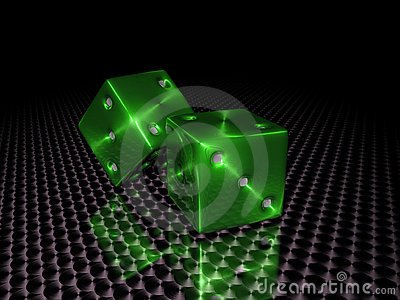 Green casino dice
