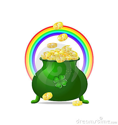 Green cauldron iitn gold coins