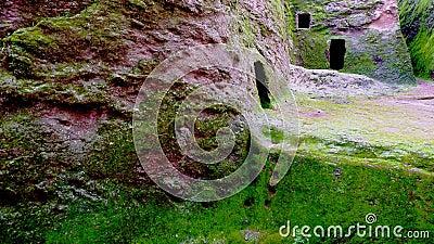 Green cavern walls