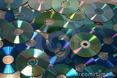 Green cd and dvd