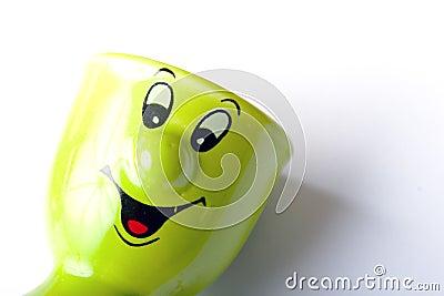 Green ceramic egg holder