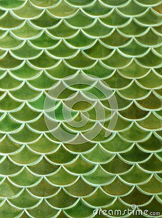 Green Ceramic Tiles Texture Background Stock Photos