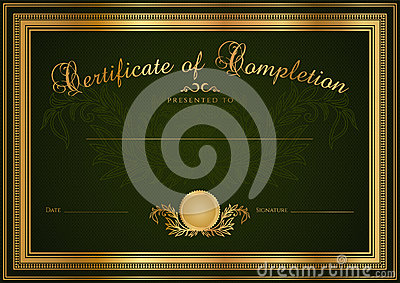 Green Certificate / Diploma background (template)