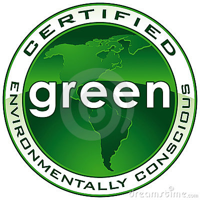 Free Green Certified Seal PATH Stock Photo - 13249360
