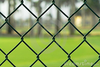 Green Chainlink Fence