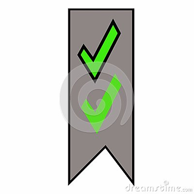 Free Green Check Mark Banner Illustration Icon Stickers Royalty Free Stock Images - 106983189