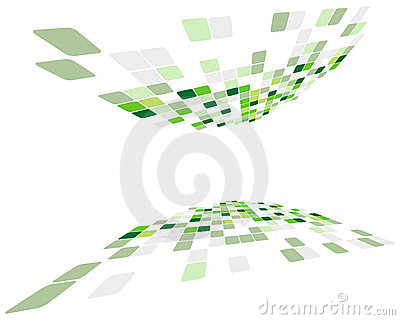 Green checked background