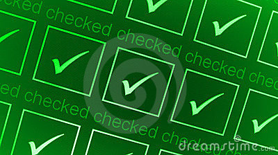 Green checked boxes