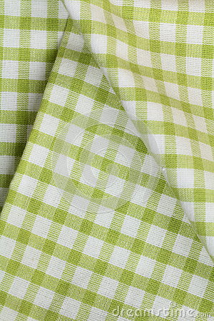 Green checkered kitchen towel